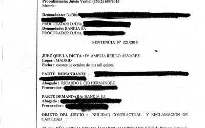 Sentencias favorables contra Bankia por la compra de acciones
